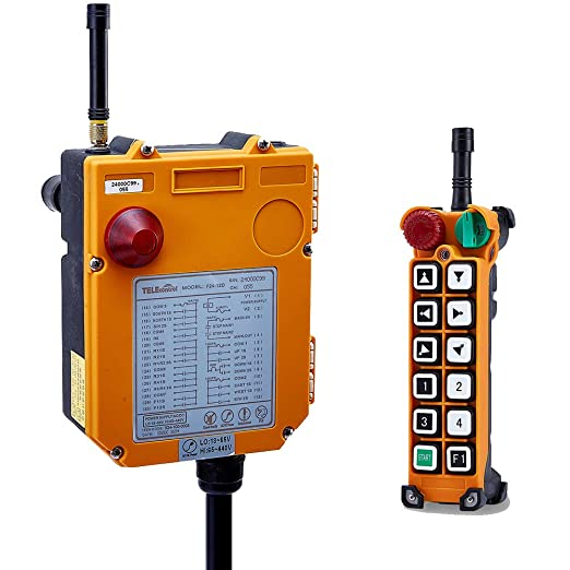 1 Receiver Hoist Crane Wireless Remote Controller 12 Buttons Crane Chain Hoist Push Button Switch 1 Transmitters