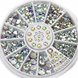 1 Sets 5-Sizes Mixed Colors Acrylic Glitter Nail Art Rhinestones Wheel 3D Studs Accessoires Decorations DIY Manicure Nails Tools Tips Kits Pleasantness Popular Xmas Christmas Winter Holidays Tool Kit