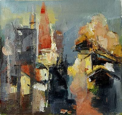View of Village_1 By Original Artist - Chen DeJun. Museum Quality Oil Painting. (Unframed and Unstretched).