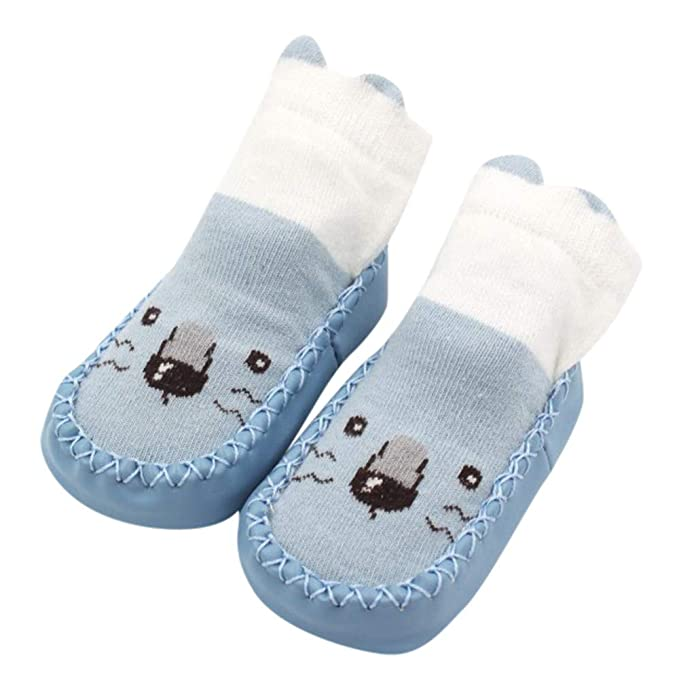 Baumwolle Boden Baby Jungen Kleinkind Söckchen Warm 1Paar Socken Anti-Rutsch