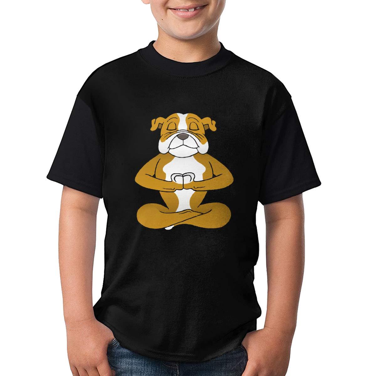 TXYHDX11 English Bulldog Short Sleeve Tee Casual Crew Neck Tee for Teenagers