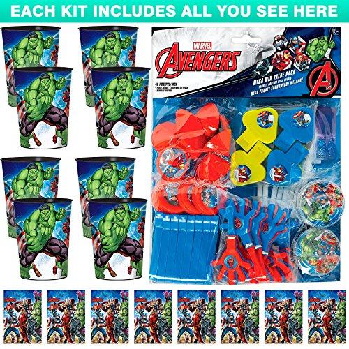 Costume SuperCenter Epic Avengers Favor Kit (for 8 Guests)