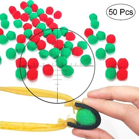 Toprade Multiple Color Felt Ball//Fuzzy ball Slingshot Ammo Safe for Children