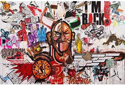 Puzzle House- Sport Graffiti, Holzpuzzle, Basswood Soccer Basketball Poster, Perfect Cut & Fit, 500/1000/1500 Stück Boxed Fotografie Spielzeug Spiel Kunst Malerei für Erwachsene & Kinder -427