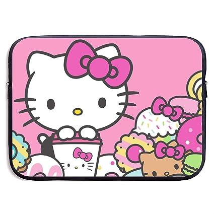 5f5e5302f Amazon.com: Laptop Sleeve Bag- Stylish Cute Hello Kitty Print Neoprene  Notebook Carrying Case Handbag for 13