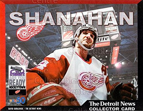 (CI) Brendan Shanahan Hockey Card 1999-00 Detroit Red Wings Detroit News Collector Cards 4 Brendan Shanahan