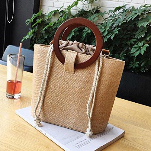 des LIU à Beach Crossbody Sac pour Weave Femme Femmes Bag Main Sauvage Straw à Bandoulière Messager Sac de Paquet Sac UU5wqr8