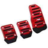 SZSS-CAR 3pcs Nonslip Car Pedal Pads Auto Sports Gas Fuel Petrol Clutch Brake Pad Cover Foot Pedals Rest Plate Kits For MT(Ma