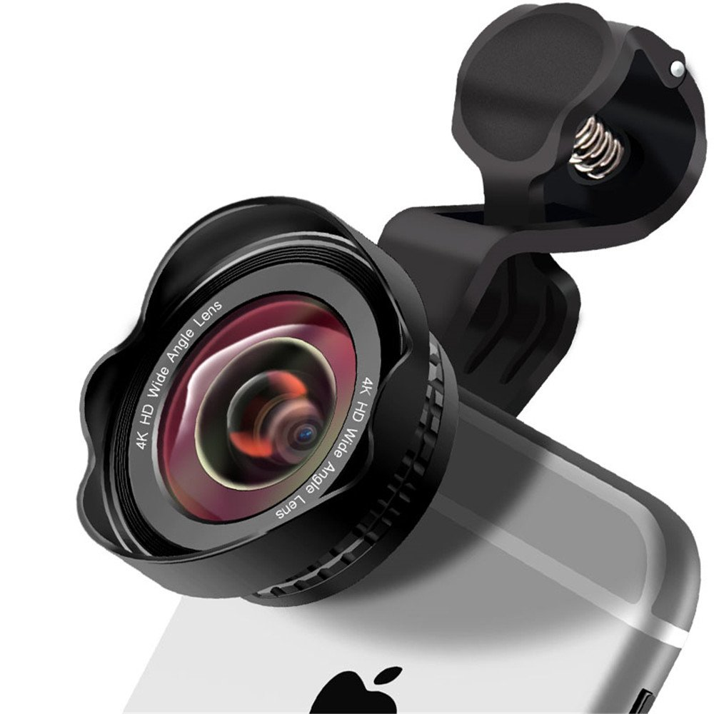 CYKE iPhone Camera Lens Kit Pro - Macro Lens & Wide Angle Lens Clip-On Cell Phone Camera Lenses for iPhone, Android, Samsung Mobile Phones and Tablets by Cyke