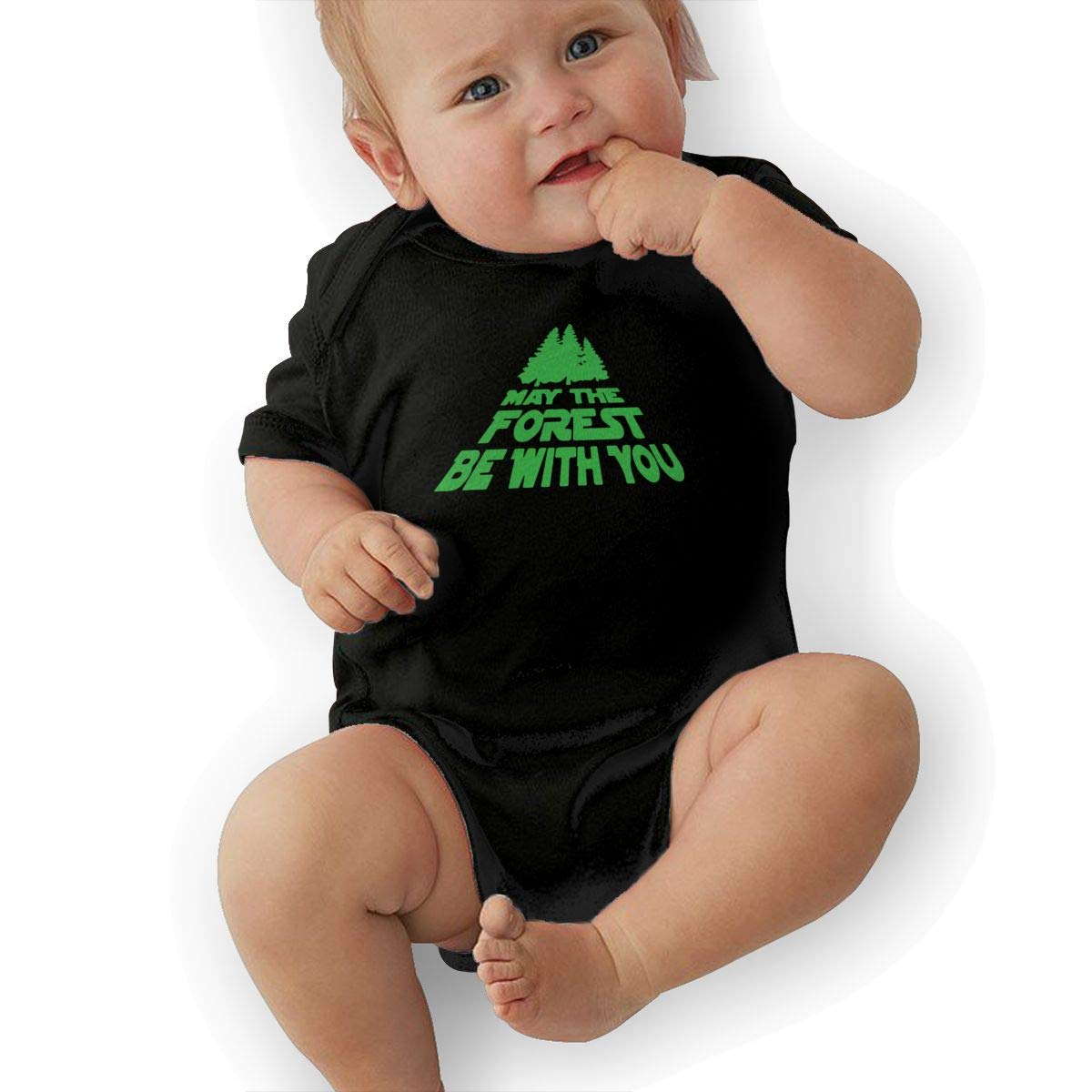 Suit 6-24 Months TAOHJS97 Newborn May The Forest Be with You 2 Short Sleeve Climbing Clothes Playsuit