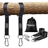 BUSATIA Tree Swing Straps (Set of 2), Tree Hanging Kits 5ft Length with 2 Heavy Duty Safety Lock Carabiner Hooks…