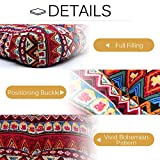 HIGOGOGO Bohemian Floor Pillow, Large Mandala