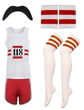 Eshopping Warehouse para Mujer 118 Disfraz Infantil de Marathon Calcetines Retro pantalón Corto Peluca Tash Chaleco Chaleco Set: Amazon.es: Deportes y aire ...