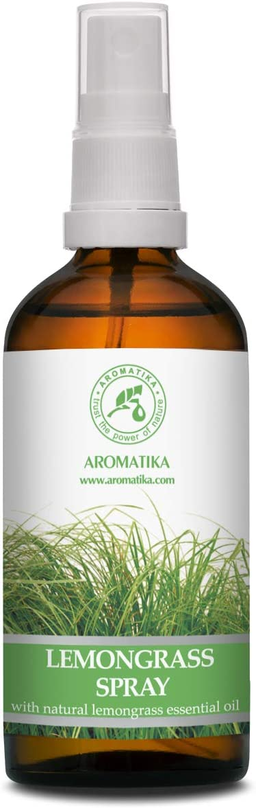 Lemongrass Aromaterapia Aerosol con Aceite Esencial Natural de Lemongrass 100ml - Pulverizador - Ambientador - Aroma de Verano - Ideal para Yoga - Aroma de Coche - Almohada & Lino Spray - Relajaci