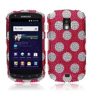 NextKin Bling Crystal Full Rhinestones Diamond Case Protector For Samsung Galaxy S Lightray 4G R940 Aviator R930, Hot Pink Dots