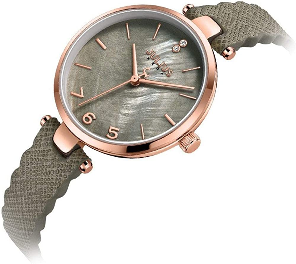Julius Montres de Mode Femmes regardent Surface Quartz Shell Simple Montre étanche. 1