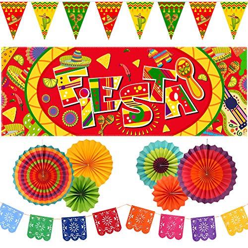 Mexico Decorations - 10 Pieces Mexican Party Decoration Set,