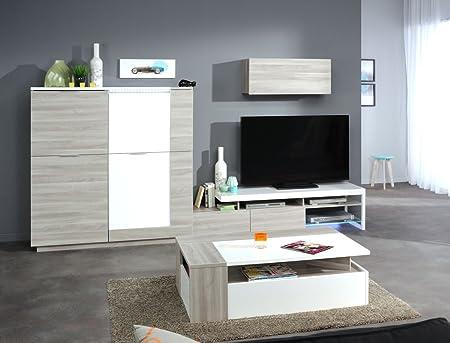 Sala de estar Vedia 22 de madera de roble NB alta board mueble ...