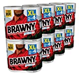 #8: Brawny Pick-a-Size Paper Towels, White, XL Rolls, pack of 16 count