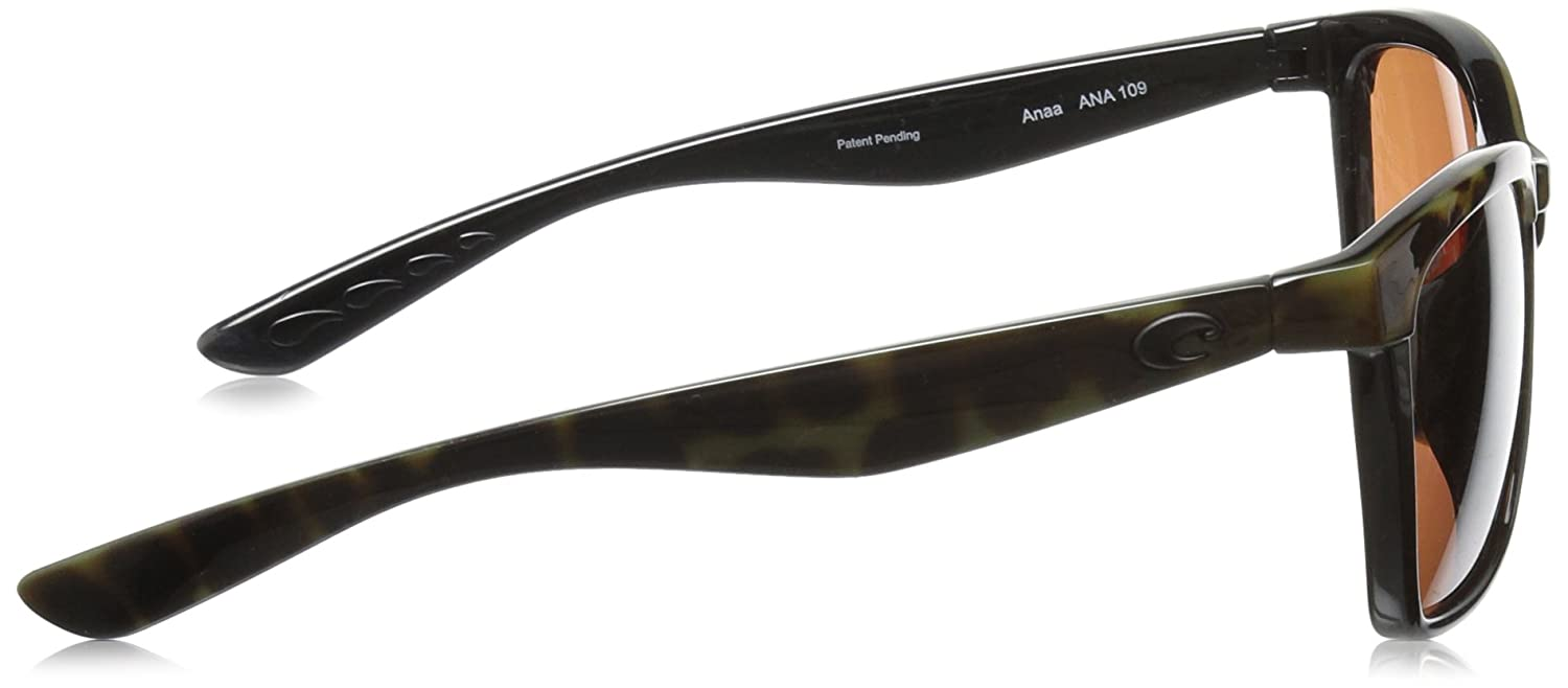 8ec300281a Amazon.com  Costa del Mar Anaa Sunglasses Olive Tortoise on Black Copper  580Plastic  Clothing