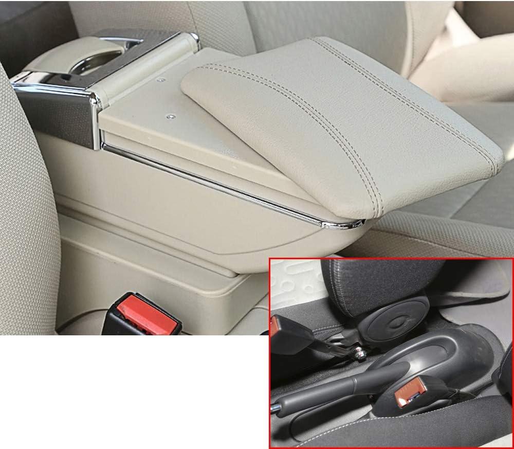 Beige Armlehnen Box Mittelkonsole Schutz Kastendeckel Mittelarmlehne Abdeckung f/ür Seat Tarraco