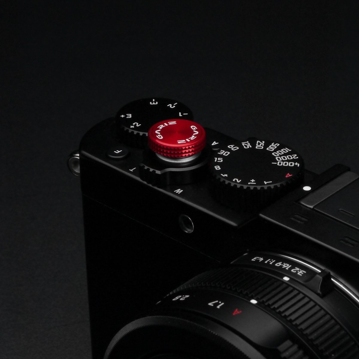Gariz Metal XA-SBA6 Camera Sticker Type Soft Button for Sony, Fuji, Canon, Nikon, Lumix, Leica, Red