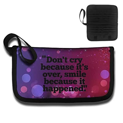 Don't Cry Because It's Over Travel Wallet Passport Holder Document Organizer