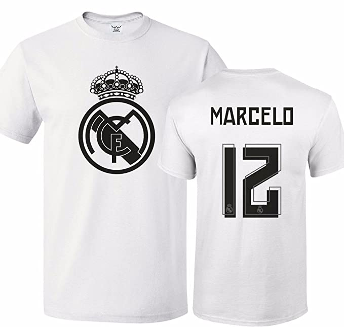 Amazon.com: tcamp Real Madrid Shirt Marcelo Vieira # 12 ...