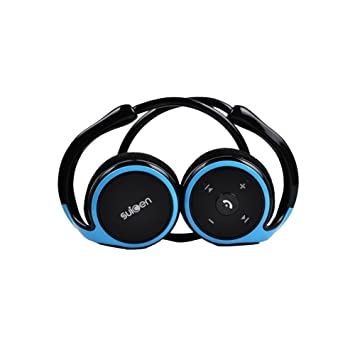 Auriculares Bluetooth, Kool(TM) Azul Auriculares Deportivos Diadema con micrófono y cancelación de