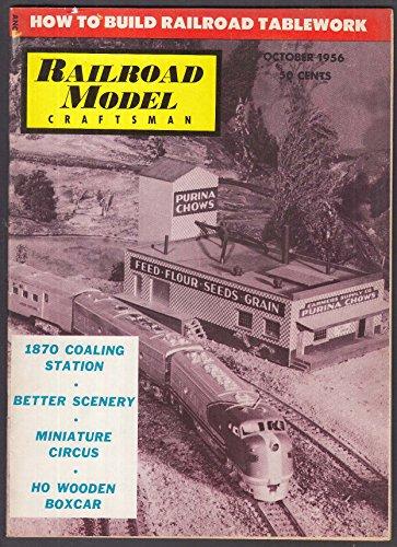 RAILROAD MODEL CRAFTSMAN 1870 Coaling Station HO Wooden Boxcar ++ 10 1956