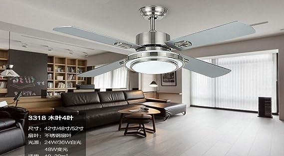 SDKKY deckenventilator, modernes licht -, edelstahl - fan lampe ...