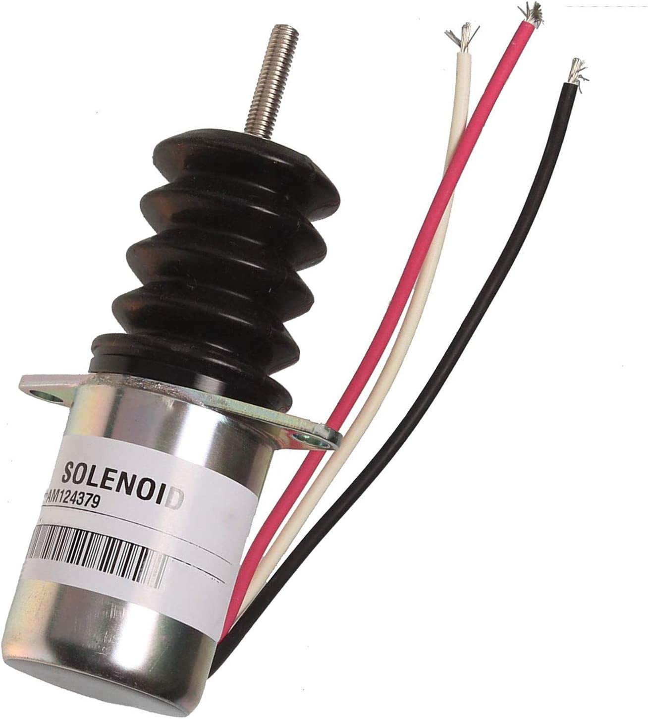 New AM124379 Fuel Shut Off Solenoid for JOHN DEERE 415 455 F915 F925 F935