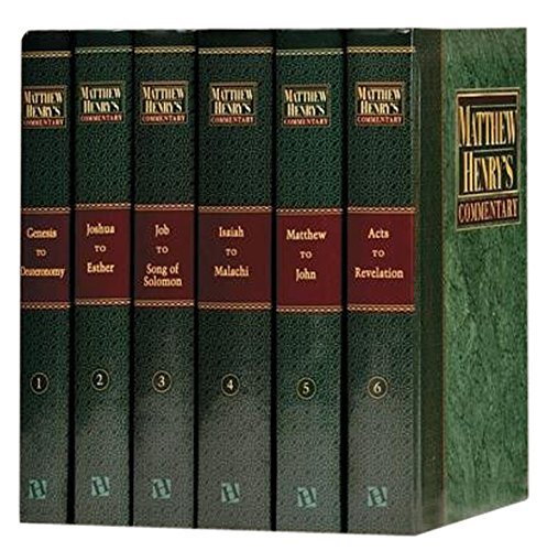 Matthew Henry's Commentary on the Whole Bible: Complete and Unabridged in 6 Volumes by Matthew Henry (1991-03-01)