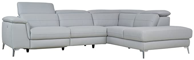 Homelegance Cinque Sectional Sofa with Left Side Power Recliner, 113\