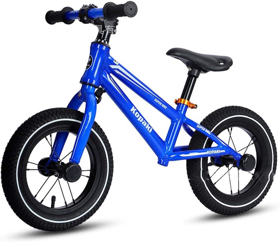 CBPE 14 Pulgadas Niños Bicicleta De Equilibrio, De Peso Ligero del Niño De La Bici del Empuje, La Bici del Bebé El Entrenamiento con Altura De Asiento Ajustable para Niños 2-6 Años