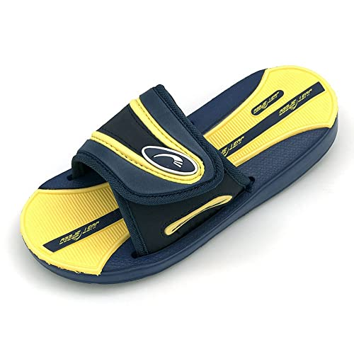 667db831e1812 Just Speed Boys Sandals Colors (2, Navy Yellow)