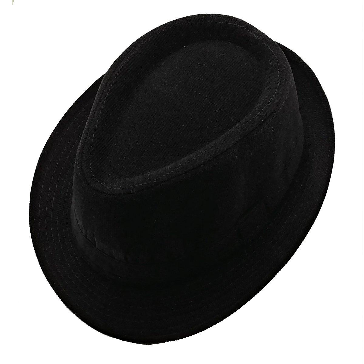 List A Mens Velvet Fedora Hat Selections - Stylish Trilby Panama Hat  (Black) at Amazon Men s Clothing store  39eea331cee