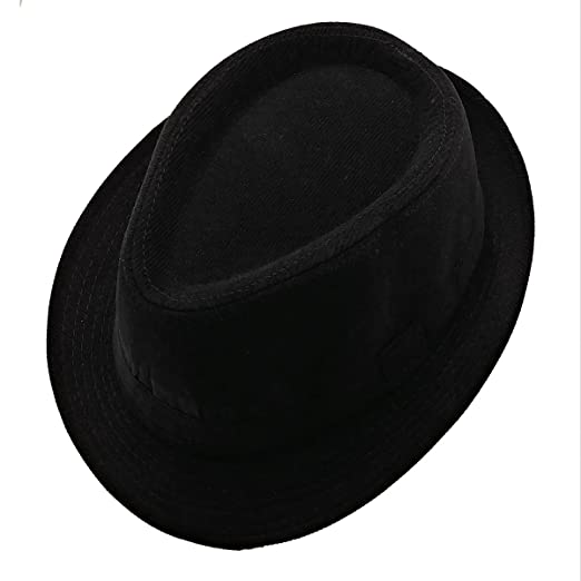 List A Mens Velvet Fedora Hat Selections - Stylish Trilby Panama Hat (Black) 8a0acc6a7eb7