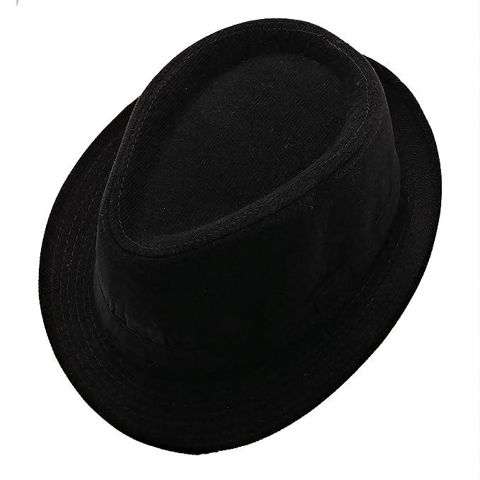 List A Mens Velvet Fedora Hat Selections - Stylish Trilby Panama Hat (Black) 358c8894b35