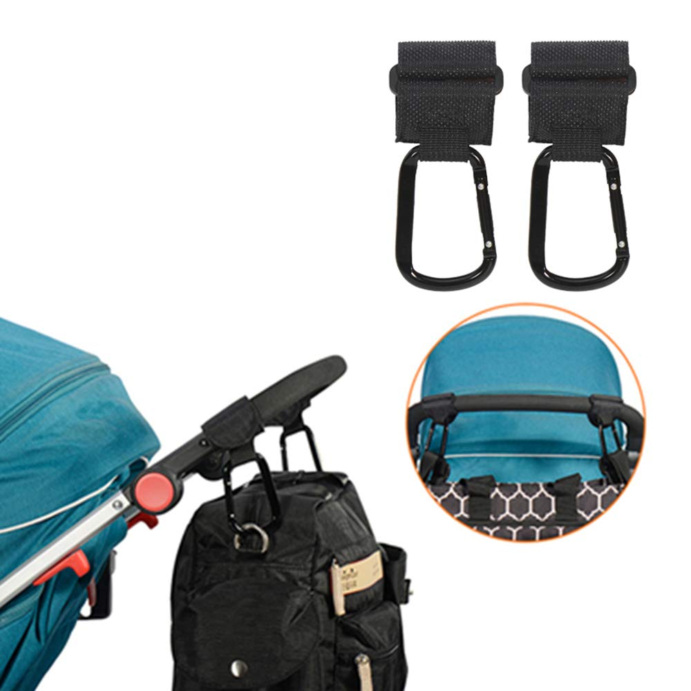 MAOFALZZNA 2Pcs/Lot Baby Stroller Hook Strong Hanger for Baby Pushchair Prams Poussette Hook Stroller Organizer Hanger Hook for Diaper Bags