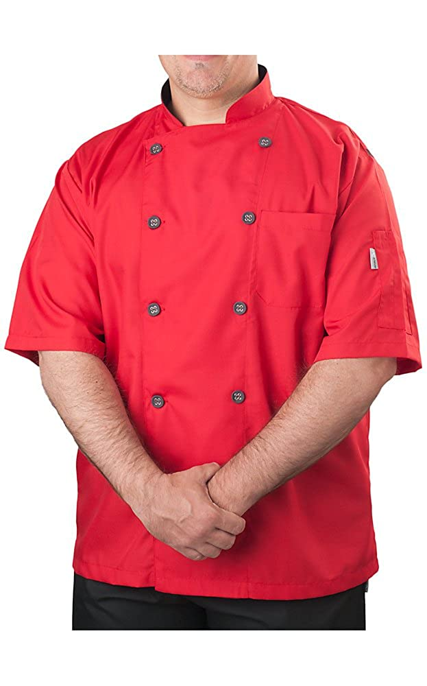 KNG Men's Short Sleeve Active Chef Coat 2124