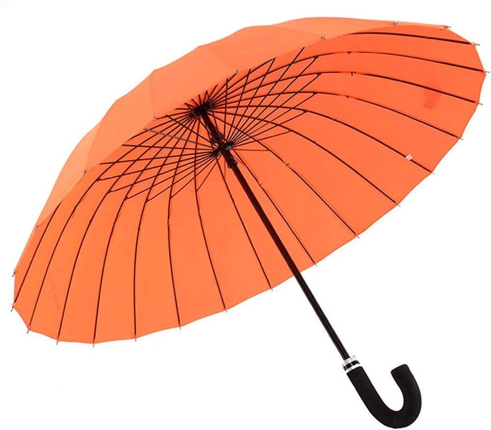 WMS Long Handle Umbrella Adult Solid Color 24 Bone Rib Reinforcement Storm Umbrella Windproof Umbrella