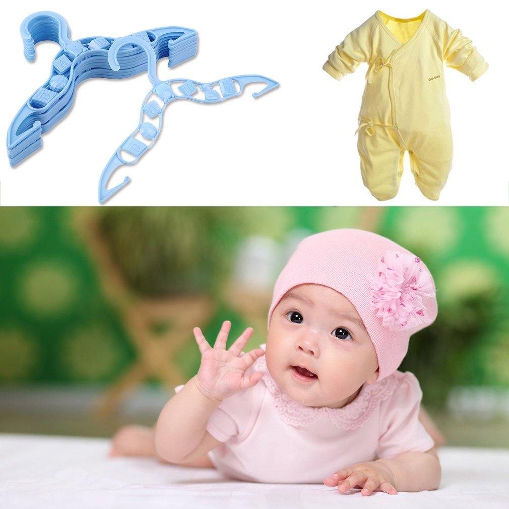 YTCYKJ 40 x Kids Baby Plastic Coat Clothes Garment Trousers Hangers Blue Durable