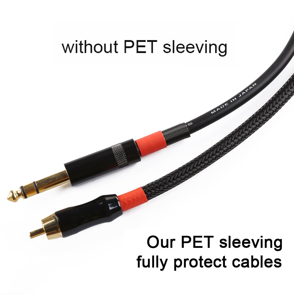 Alex Tech braided cable sleeve 1.25 inch Flexo PET Expandable Braided Sleeving Black 25ft