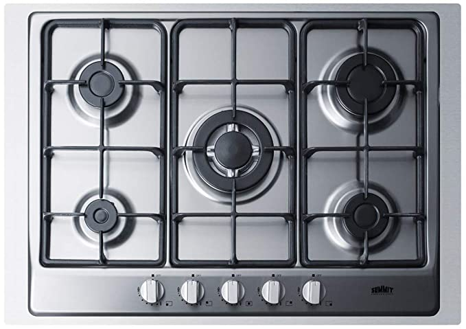 Amazon.com: Summit GC527SSTK30 5 Sealed Burners Gas Cooktop ...