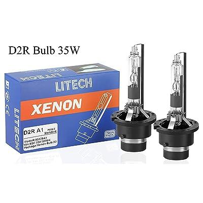 Litech D2R Bulb 5000K 35W 85126 Standard Replacement Car HID Xenon Headlight Bulbs (Pair): Automotive