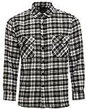 Mens Work Shirts Brushed Cotton Lumberjack Flannel Long Sleeve Check Shirt FREE P&P (L, Design 4)
