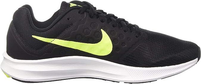 Nike Downshifter 7, Zapatillas de Running Hombre, Negro (Black/volt-white), 41 EU: Amazon.es: Zapatos y complementos