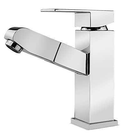 Faucet Lead-Free Square Innovation Faucet Cold and Hot Water Mixer Single Handle Tap Janitorial & Sanitation Supplies Janitorial & Sanitation Supplies