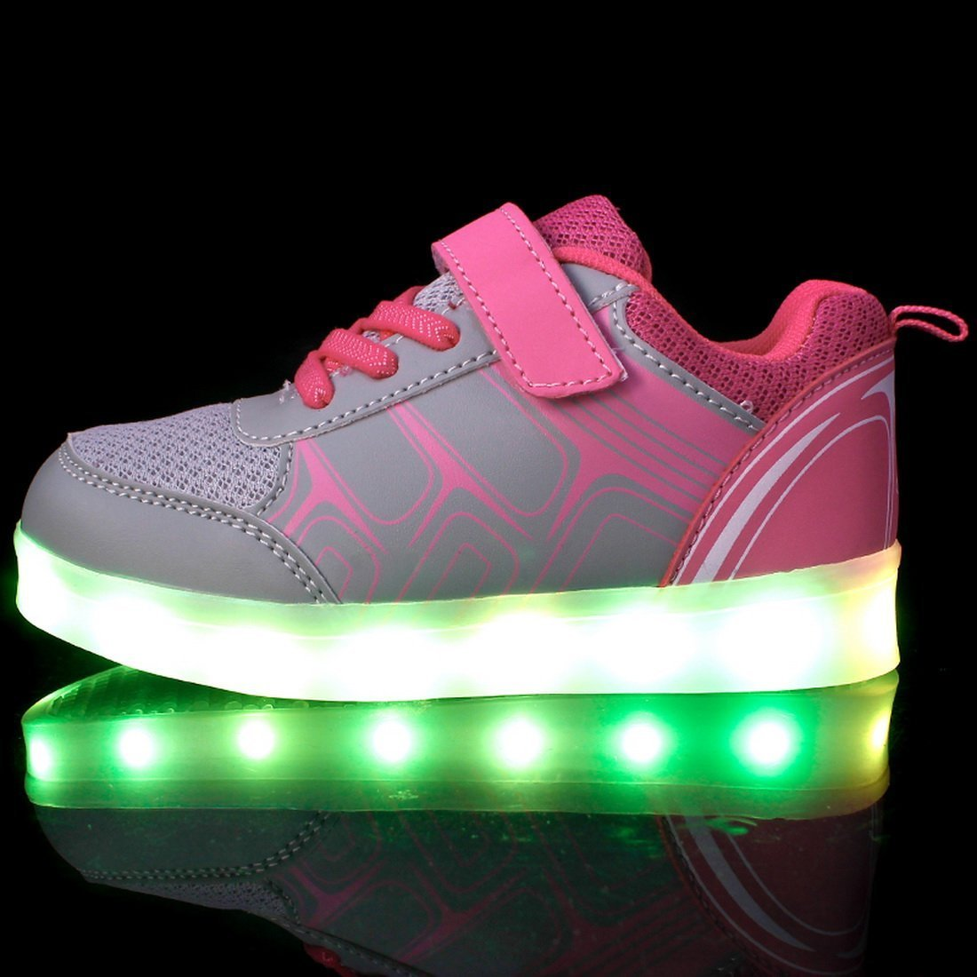 Man's/Woman's sexphd Kids Boys Girls USB Charger LED Lights Sports Light up Flames Sports Lights Shoes Sneaker High quality and low overhead excellent wonderful NV24633 70fbd8